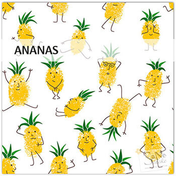 Stoffmuster Ananas