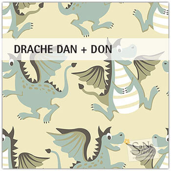 Stoffmuster Drachen Dan & Don