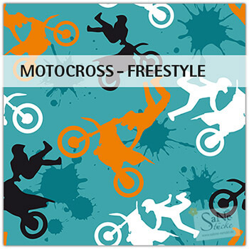 Stoffmuster Motocross Freestyle