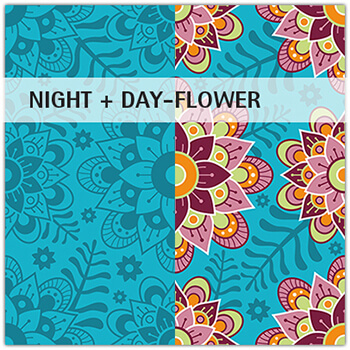 Stoffmuster Night and Day-Flower