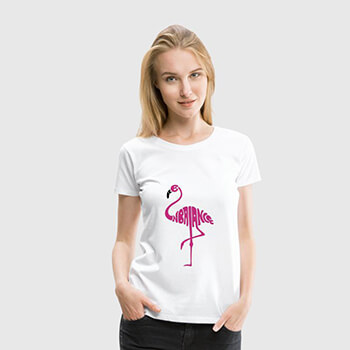 Shirt Flamingo be in balance