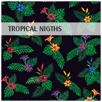 Stoffmuster Tropical Nights