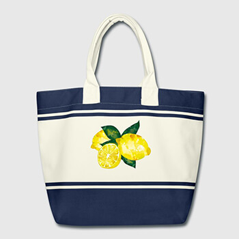 mediterrane Shopper Bag Zitronen