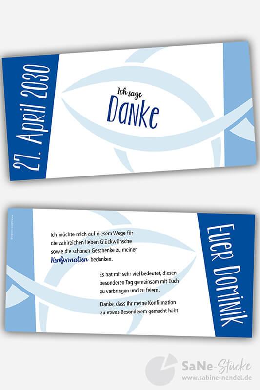 Dankeskarte-Konfirmation-Fisch-blau
