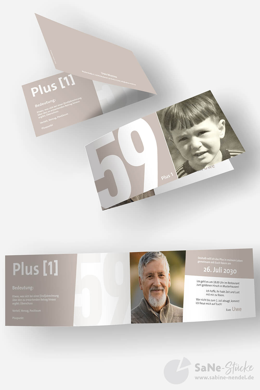 Einladung-60-Geburtstag-Plus-Hellbraun