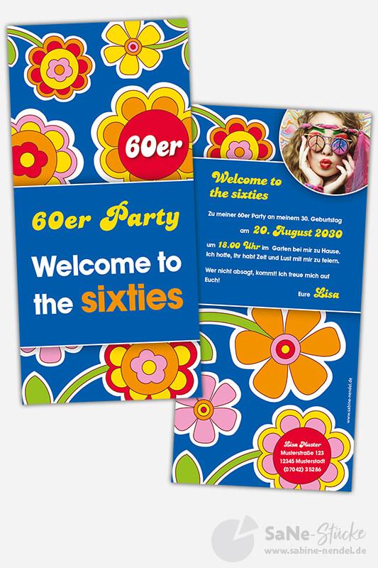 Einladung 60er Jahre Party Foto