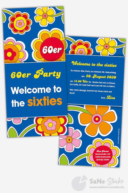 Einladung 60er Jahre Party