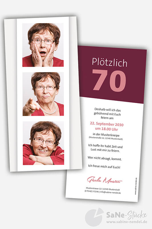 Einladung-70-Geburtstag-Fotostreifen