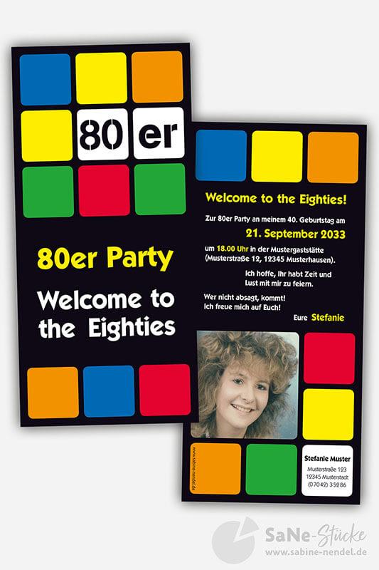 Einladung 80er Party Foto