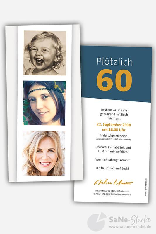 Einladungskarten-60-Geburtstag-Foto-blau