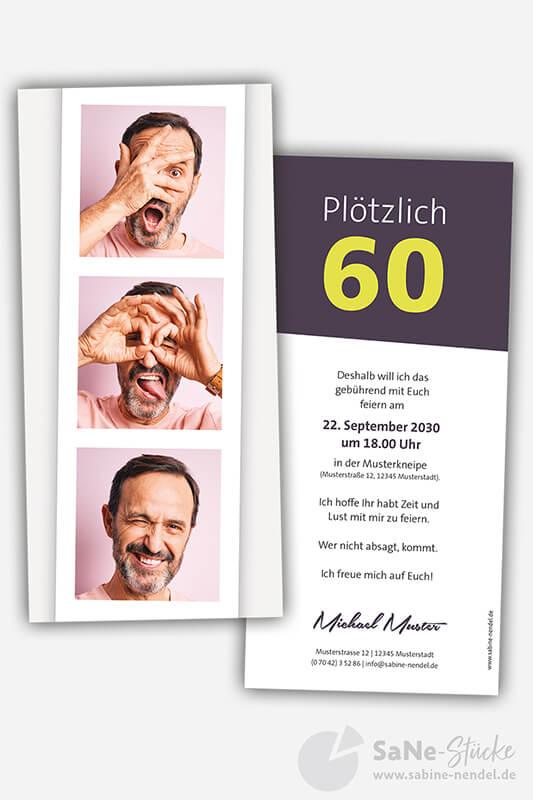 Einladungskarten-60-Geburtstag-Foto-darkberry