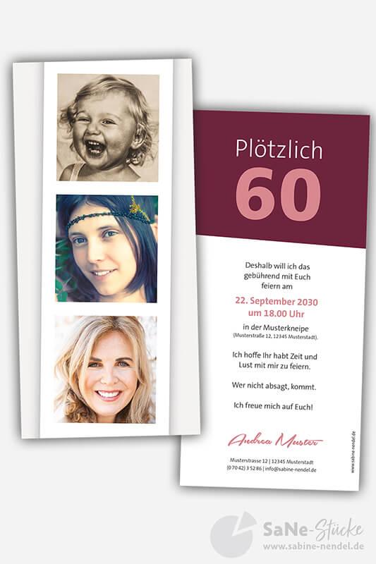 Einladungskarten-60-Geburtstag-Foto-rot