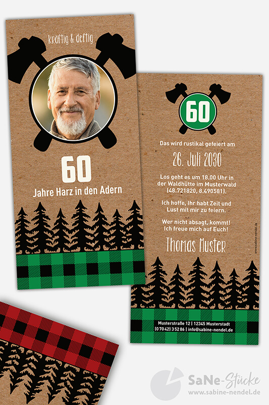 Einladungskarten-60-Geburtstag-Holzfaeller