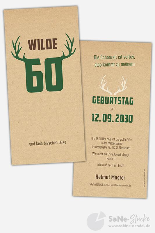 Einladungskarten-60-Geburtstag-Jaeger-gruen