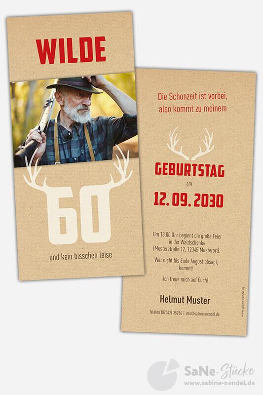 Einladungskarten-60-Geburtstag-Jaeger-rot-Foto