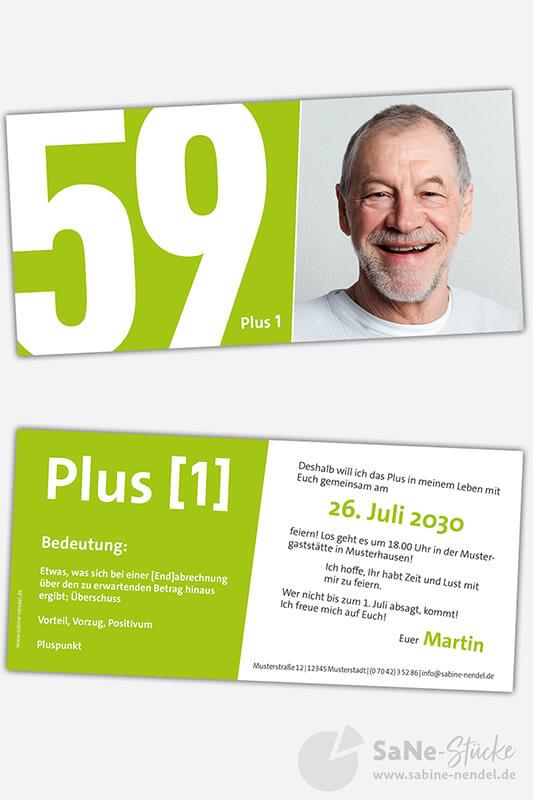 Einladungskarten-60-Geburtstag-Plus-gruen