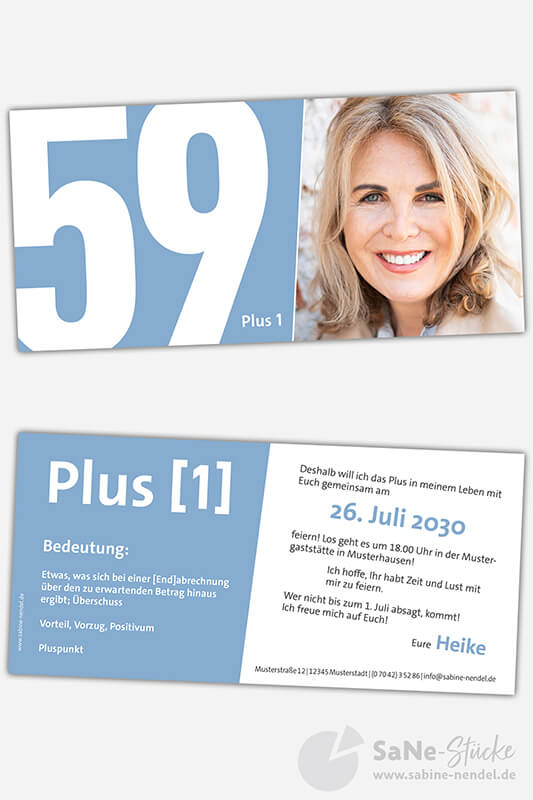 Einladungskarten-60-Geburtstag-Plus-hellblau