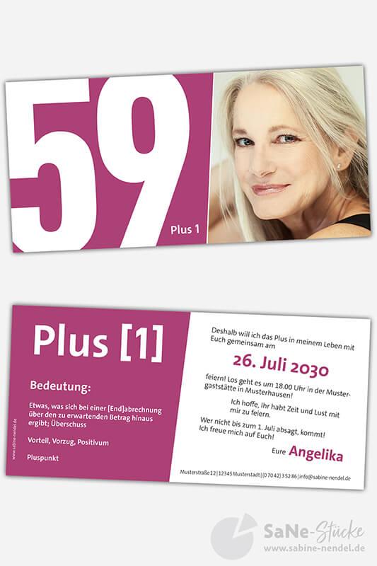 Einladungskarten-60-Geburtstag-Plus-lila