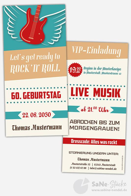 Einladungskarten-60-Geburtstag-Rock-N-Roll-blau