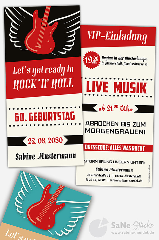 Einladungskarten-60-Geburtstag-Rock-N-Roll