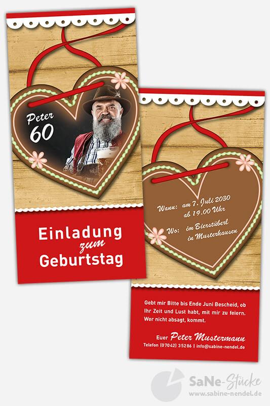 Einladungskarten-60-Geburtstag-Tracht-rot-Foto