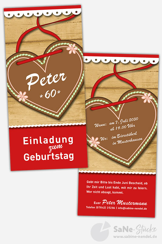 Einladungskarten-sechzigster-Geburtstag-Oktoberfest-rot