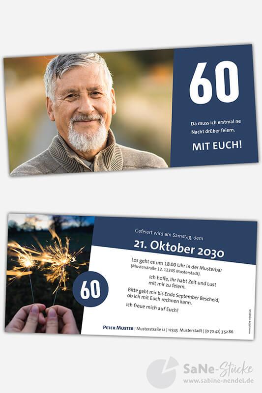 Einladungskarten-60-runder-Geburtstag-blau