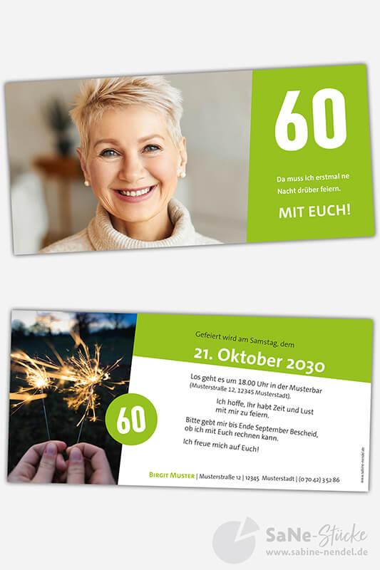Einladungskarten-60-runder-Geburtstag-gruen