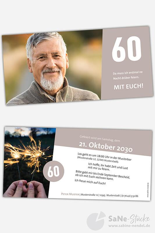 Einladungskarten-60-runder-Geburtstag-hellbraun