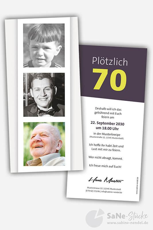 Einladungskarten-70-Geburtstag-Fotostreifen
