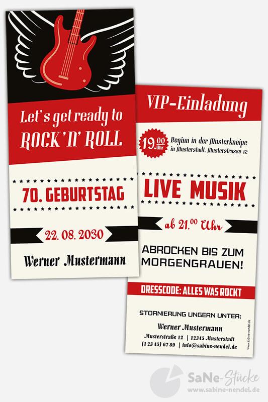 Einladungskarten-70-Geburtstag-Rockabilly