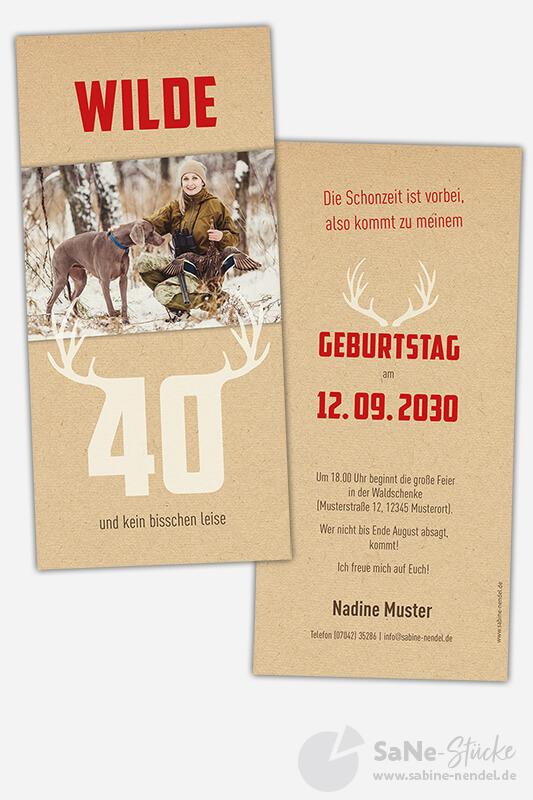 Einladungskarten-Geburtstag-Jaeger-40-rot-Foto
