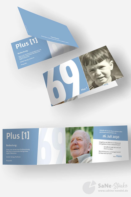 Einladungskarten Geburtstag Plus Blau