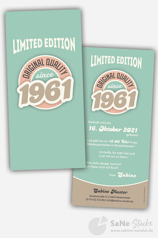 Einladungskarten-sechzigster-Geburtstag-Retro-1961-blau