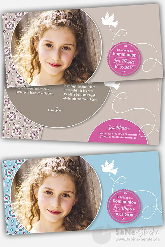 Einladungskarten-Kommunion-Taube