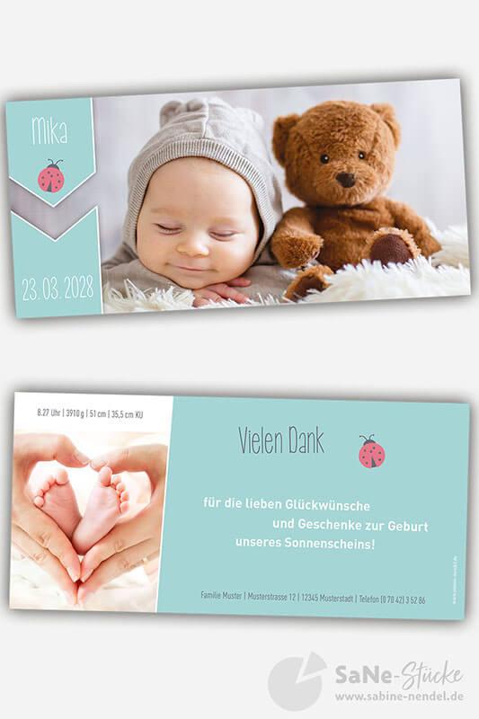 Dankeskarte-zur-Geburt-mit-Glueckskaefermotiv