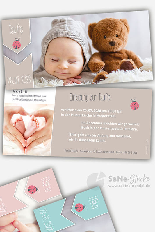 Dankeskarte-zur-Geburt-oder-Taufeinladung-mit-Glueckskaefermotiv