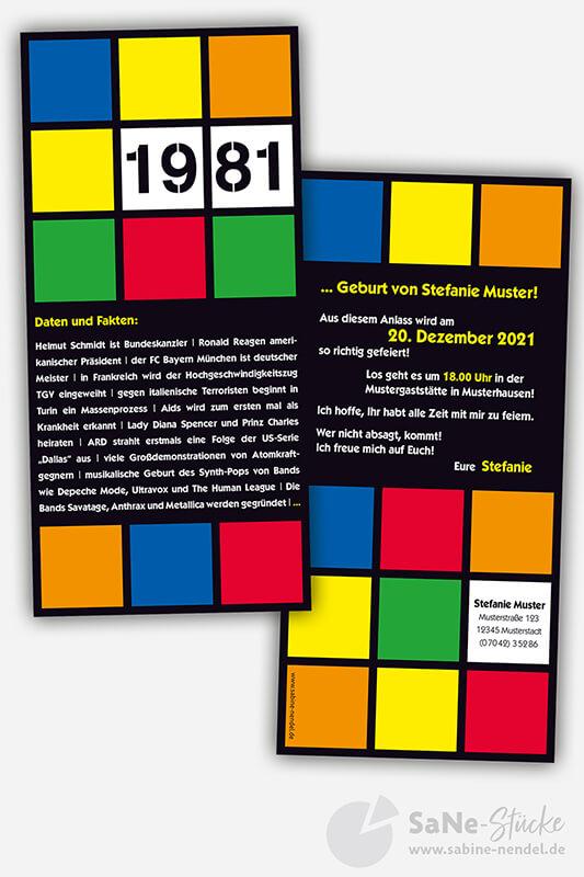 Geburtstagseinladung 1981