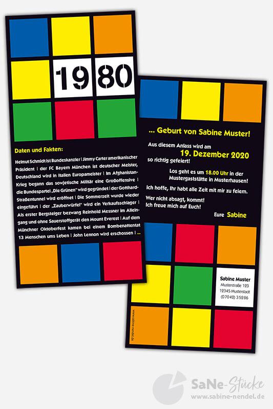 Geburtstagseinladung 1980