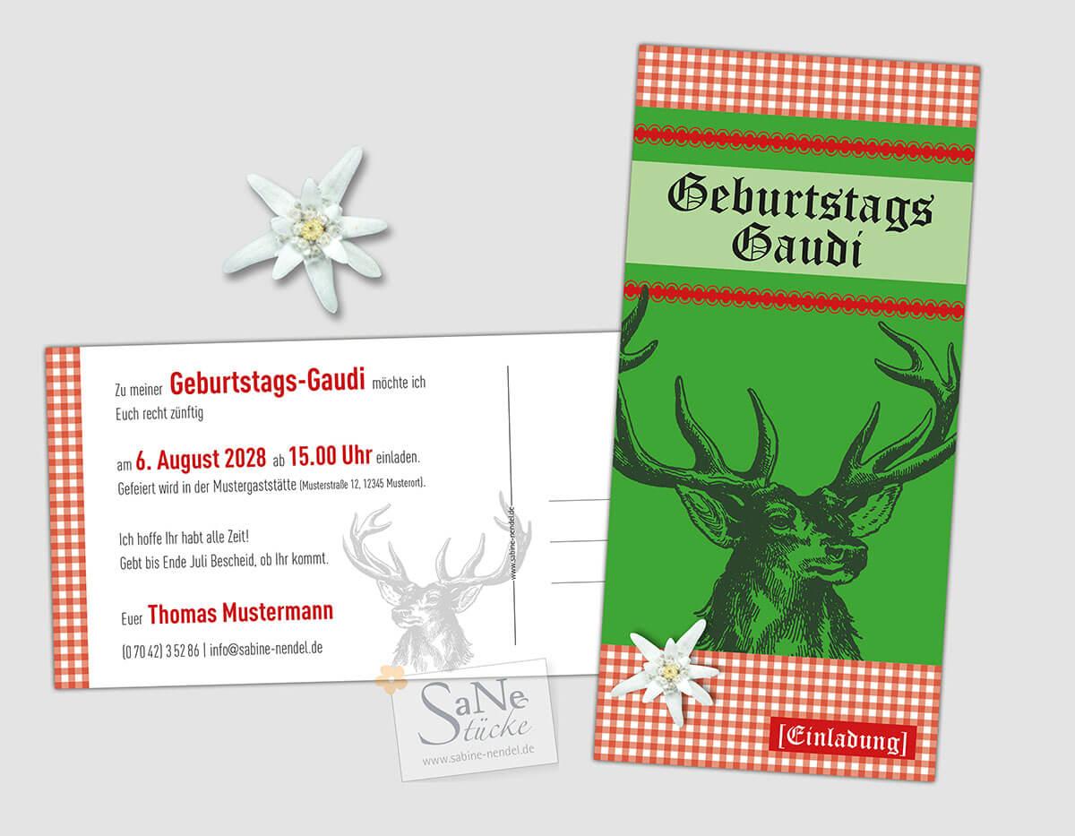 SaNe_Stuecke_Einladungskarte_Geburtstag_Hirsch_ws_mit