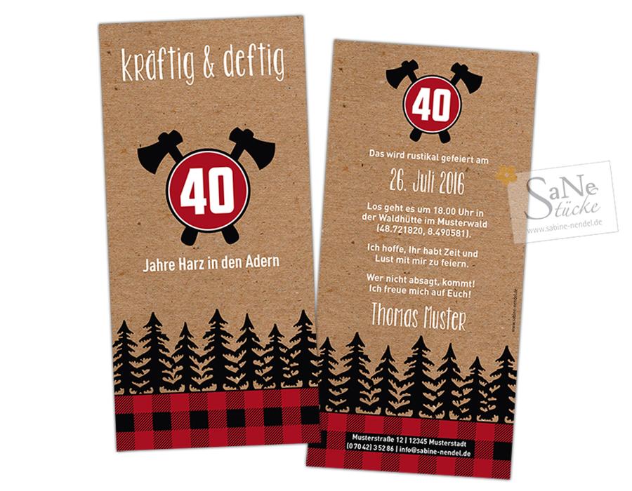 SaNe_Stuecke_Einladungskarte_Geburtstag_Lumberjack_rot7