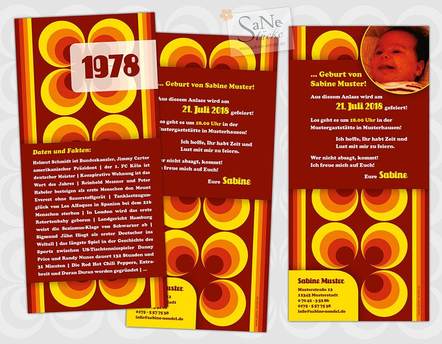 SaNe_Stuecke_Einladungskarte_Geburtstag_Retro_70er_1978_ws