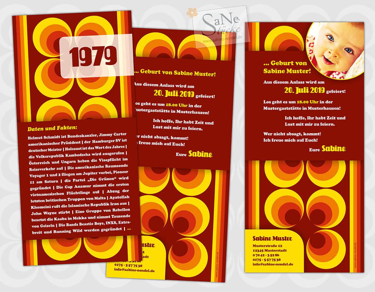 SaNe_Stuecke_Einladungskarte_Geburtstag_Retro_70er_1979_ws