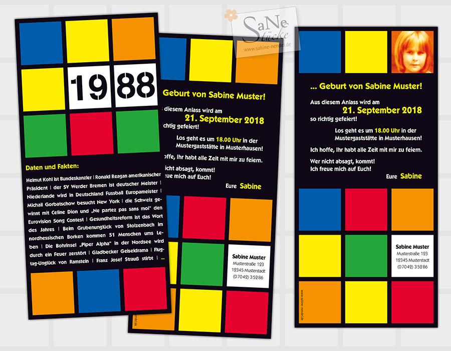 SaNe_Stuecke_Einladungskarte_Geburtstag_Retro_80er_ws