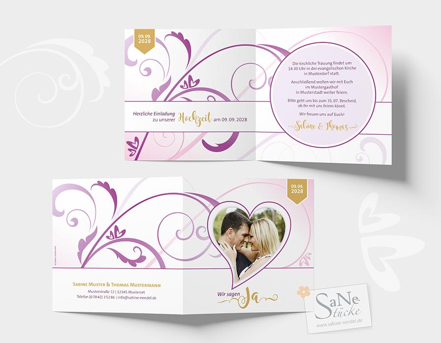 SaNe_Stuecke_Einladungskarte_Hochzeit_Swirl_Herzen_ws_offen