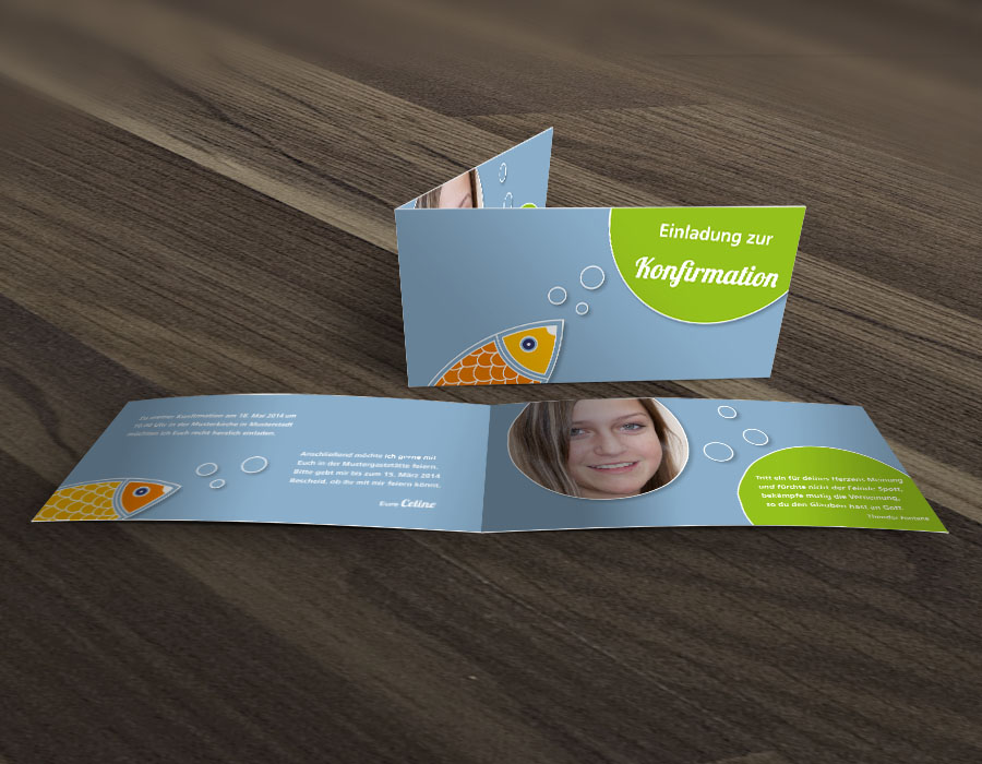 SaNe_Stuecke_Einladungskarte_Konfirmation_Fish_Bubbles_mu