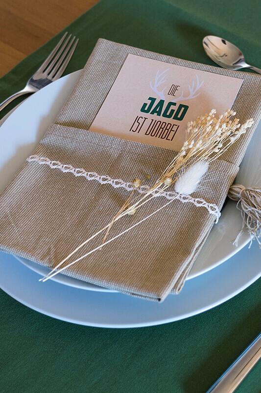 Waldhochzeit-Tischdeko